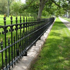 hot sales decorative galvanized or pvc coated wrought iron garden fence panels