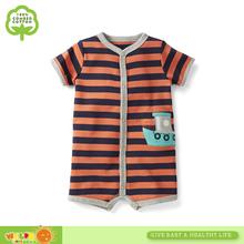 100% cotton striped baby boys creeper