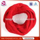 Woman round neck headwear winter knitted scarf custom neck warmer
