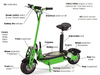 electric scooter with lights/two wheel self balance electric scooter