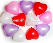 colorful heart shape latex balloon