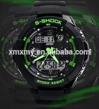 silicone quartz digital sports watches man