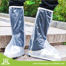 transpare men's pvc rain shoes cover,rain boots