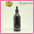pintura negro botella gotero de plástico con cierre y tubo de vidrio