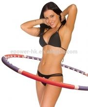 2014 hot new China manufacture magnetic massage hula hoop, hula hoop tape,glow hula hoop