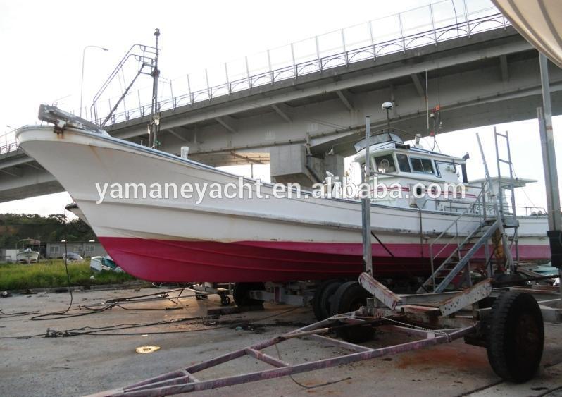 Used japan fiberglass fishing boat j140 buy 14 for Japanese fishing boat