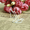 2014 cute hello kitty white beautiful paper clip necklace