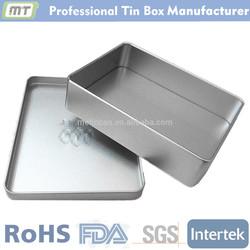 hot sale rectangular empty tin aluminum tin box