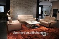 Modern pink leather sofa set/ sectional genuine leather sofa