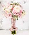 sj 2014 af087 alta qualidade flor artificial rose bouquet de flores artificiais decoração festa de casamento branco de seda rosa