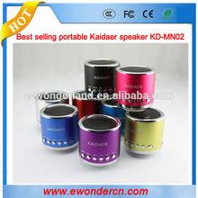 LOVELY mini round shape KD-MN02 kaidaer speaker, Kaidaer speaker with TF/SD card, Kaidaer music player