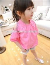 Elegant children girl's T shirt,CZ diamond designs 2014 Summer