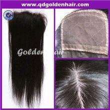 Golden Hair High Quality Virgin Remy Brazilian Human Hair Silk Top Closure