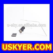 Transparent Acrylic Credit Card USB Flash Drive Available 1GB/2GB/4GB/8GB/16GB/32GB/64GB/128GB Thin Creditcard Memory Stick