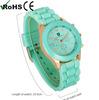 Ladies Girl Women gold crystal watch geneva watch silicone quartz watch