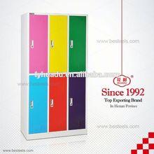 knocked down multi doors steel locker,metal colorful personal steel locker in Luoyang factory directly