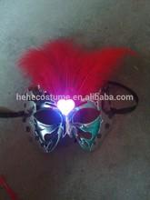 2014 wholesale feather led flashing light party masks