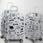 china cheap wheeled super light luggage box zebra print
