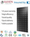 الصين الألواح الشمسية الكهروضوئية الشمسية 310w النظام الشمسي للطاقة الشمسية أحادية الخلية paneles