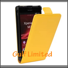 High Quality Genuine Leather Flip Case For Sony Xperia SP m35h