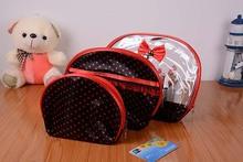 Fashion Semicircle three-piece cosmetic bag