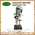 diseño personalizado la mucama de betty boop estatua de mujer policía para la venta