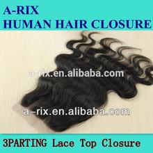 factory price wholesale virgin brazilian hair closure, free/middle/3 part
