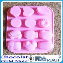 mfg çeşitli şekil silikon çikolata kalıpları Kore taş tencere