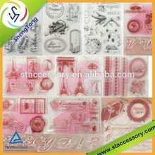 Transparent cling stamp alice in wonderland rubber stamps