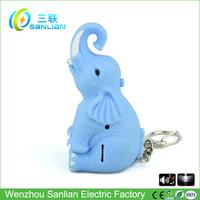 LED sound personalized sublimation elephant key chain