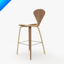 Norman Cherner Wood Leg Stool