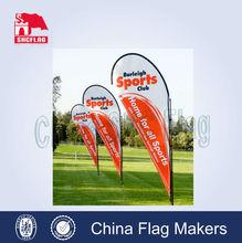 Hot sale teardrop beach flag banner,display flying mini beach flag banners
