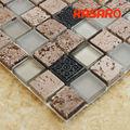 Ad arco nuovo progettato vendita calda mosaico di vetro marmo mattonelle di mosaico mix, kgs-s3047