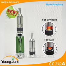 2014 Hight quality Pluto fireplace dry herb vaporizer pent,dry herb vaporizer cloutank m4,wax atomizer
