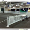 High quality cheap plastic fence with iron metal base fence factory