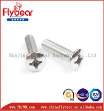 high strength A4-80 M20 DIN 966 cross drive raised countersunk head screws fastener