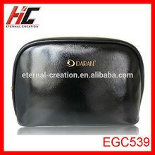 OEM black pu makeup bag brand cosmetic bag