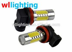 White 9006 HB4 Socket 5 LED Fog Light Bulb 7.5W DC 12V for Car