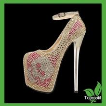 Wholesale high heels rhinestone transfer Shoe crystal accessory
