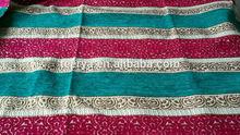 Arabic muslim confortable chenille jacquard fabric for sofa