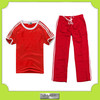 polyester sport fabric red school uniforms children