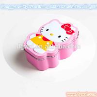 Lovely kitty shaped tin box