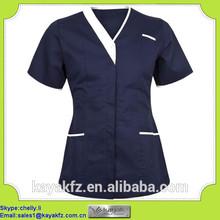 navy blue short sleeve Doctors uniform in Guangzhou with pen pocket