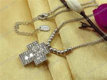 Shamballa style enamel american flag necklace for birthday greetings