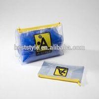 Custom logo PVC bikini/garment/cloth pouch bag with zipper