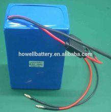 24v / 36v 10ah ebike lipo batteryCE UL battery pack silver fish ebike battery pack