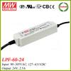 Meanwell 60w ip67 led driver 24v 2.5a LPF-60-24