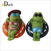 Customized Logo Branded Custom Bath Squeeze Frog Toy