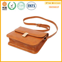 Trendy Casual Single Crossbody Strap Magnetic Closure Metal PU Leather Satchels