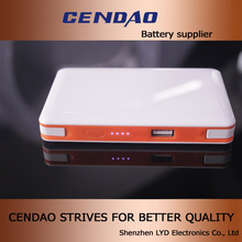 built-in cable 8000mah real capacity power bank dual usb ou put socket 5v 1a/2.1a 8000mah power bank case for s5